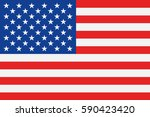 usa flag vector | Shutterstock .eps vector #590423420