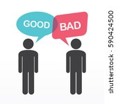 people icons with speech bubbles | Shutterstock .eps vector #590424500