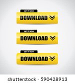 download button set in yellow... | Shutterstock .eps vector #590428913