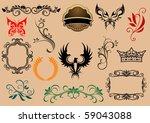 set of royal heraldic elements. ...
