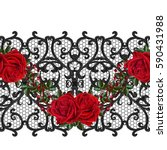 seamless pattern. oriental... | Shutterstock . vector #590431988