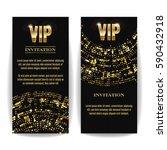 vip invitation card vector.... | Shutterstock .eps vector #590432918