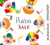 purim sale purim template... | Shutterstock .eps vector #590432969