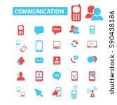 communication icons | Shutterstock .eps vector #590438186