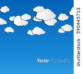 collection of vector clouds on... | Shutterstock .eps vector #590445713