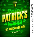 saint patrick's day party... | Shutterstock .eps vector #590456474