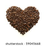 Roasted Coffee Beans In The...