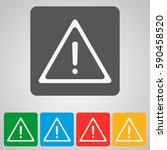 warning icon. attention... | Shutterstock .eps vector #590458520