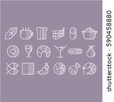 vector set of food icons. set... | Shutterstock .eps vector #590458880