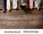multiple semi precious... | Shutterstock . vector #590459300