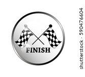 racing flag icon. | Shutterstock .eps vector #590476604