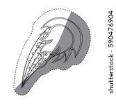 sticker silhouette ball fire... | Shutterstock .eps vector #590476904