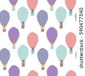 animal in a balloon | Shutterstock .eps vector #590477540