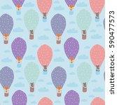 cartoon children illustration   ... | Shutterstock .eps vector #590477573