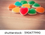 Colorful Hearts Candy On...