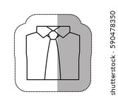 contour tie with shirt icon ... | Shutterstock .eps vector #590478350