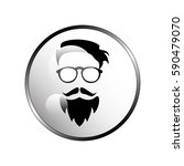 dude  bearded man illustration | Shutterstock .eps vector #590479070