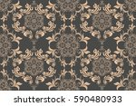 seamless ornament on background.... | Shutterstock .eps vector #590480933