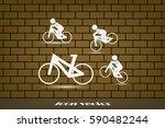 cyclist icon vector...