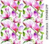wildflower magnolia flower... | Shutterstock . vector #590488199