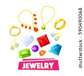 jewelry and precious gemstone... | Shutterstock .eps vector #590490068