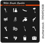 work tools vector icons for... | Shutterstock .eps vector #590492408