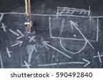 whistle of soccer   football... | Shutterstock . vector #590492840