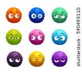 funny cartoon colorful shaggy...