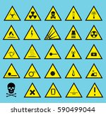 symbols triangular warning... | Shutterstock .eps vector #590499044