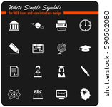 university vector icons for... | Shutterstock .eps vector #590502080