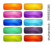 colorful glossy buttons set....