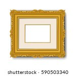 gold vintage baroque picture... | Shutterstock .eps vector #590503340
