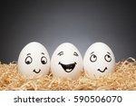funny little easter egg stories ... | Shutterstock . vector #590506070