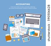 accounting concept. financial... | Shutterstock .eps vector #590506628