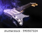 Electric Guitar With Blue Smok...