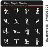 sport vector icons for user... | Shutterstock .eps vector #590508308