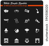 theater vector icons for user... | Shutterstock .eps vector #590508320