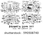 business doodles sketch vector... | Shutterstock .eps vector #590508740