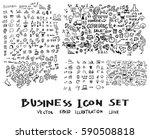 business doodles sketch vector... | Shutterstock .eps vector #590508818