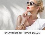 portrait beauty stunning sexy... | Shutterstock . vector #590510123