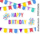 happy birthday card template... | Shutterstock .eps vector #590510606