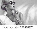 portrait beauty stunning sexy...   Shutterstock . vector #590510978