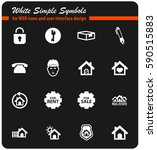 real estate vector icons for...   Shutterstock .eps vector #590515883