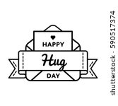 happy hug day emblem isolated... | Shutterstock .eps vector #590517374