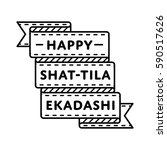 happy shat tila ekadashi day... | Shutterstock .eps vector #590517626