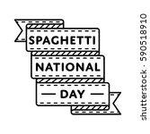 national spaghetti day emblem... | Shutterstock .eps vector #590518910