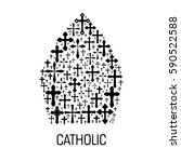 catholic religious emblem....   Shutterstock .eps vector #590522588