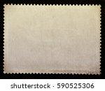 blank vintage posted stamp...   Shutterstock . vector #590525306