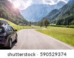 car for traveling | Shutterstock . vector #590529374