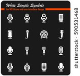 microphone vector icons for... | Shutterstock .eps vector #590531468